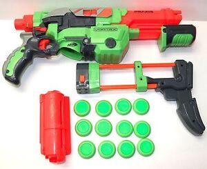 NERF-VORTEX-PRAXIS-FOAM-DISC-BLASTER-GUN-WITH-DISC-amp-SHOULDER-SHOCK-ATTACHMENT