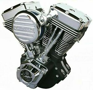 ULTIMA EL BRUTO 113 CI BLACK AND CHROME FINISH ENGINE MOTOR EVO HARLEY