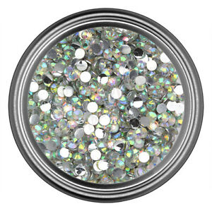 AB-Clear-Resin-Rhinestone-Gem-2mm-3mm-4mm-5mm-6mm-7mm-8mm-Flatback-Nail-Crystal