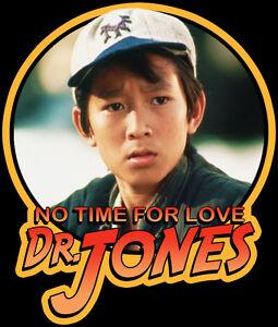 80s-Classic-Indiana-Jones-the-Temple-of-Doom-Short-Round-No-Time-custom-tee