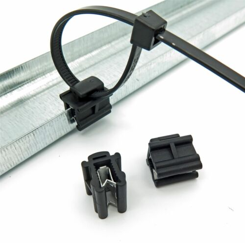 VVO Fasteners Cable Tie Edge Mounting Clips (10 Clips- Cable Ties NOT Included)