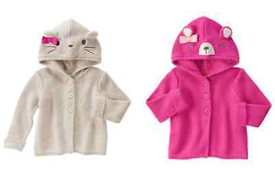 NWT Gymboree Woodland Wonder Bear Mouse Sweater Cardigan 6 12 18 24 2T 3T 4T 5T
