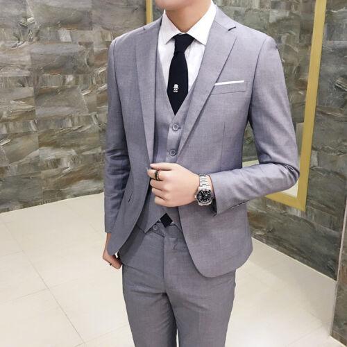 Mens One Button Slim Fit Coat Pant Wedding Suits 2Pcs Groom Formal Blazer Sets