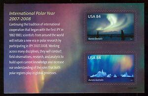 #4123 84c International Polar Año,Souvenir Hoja, Nuevo Cualquier 5=
