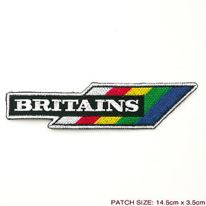 """BRITAINS - Toy Brand Company Logo Embroidered 6"""" Iron-On Patch"""