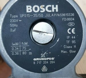 Pumpe,Umwälzpumpe,Grundfos,Junkers,8717204187,UP 15-50 JU LA