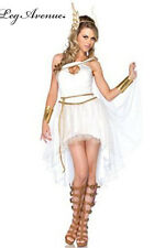 Greek Goddess Costume Medium Large White Toga Costume 3pc Set Leg Avenue NEW
