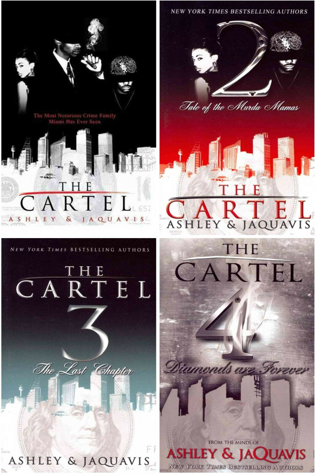 Image for The Cartel Series 1-4 MASS MARKET Paperback Collection by Ashley & Jaquavis! New by Ashley & JaQuavis ; New Ashley ; R.H. Ed. Ashley ; Jaquavis