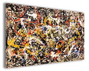HonnêTe Quadro Moderno Jackson Pollock Vol Viii Stampa Su Tela Canvas Arredamento Poster Une Offre Abondante Et Une Livraison Rapide