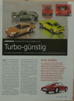 ' 75 Porsche 911 Turbo In 1-24 Di Welly... Un Modello Relazione #2011-mostra Il Titolo Originale