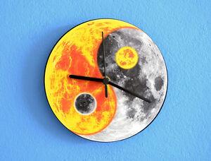 Yin Yang Sun Moon Wall Clock Ebay