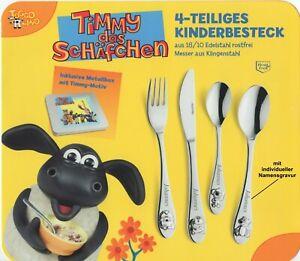 Kinder-Besteck-TIMMY-DAS-SCHAFCHEN-4-Teile-mit-Gravur-nur-19-95-EUR