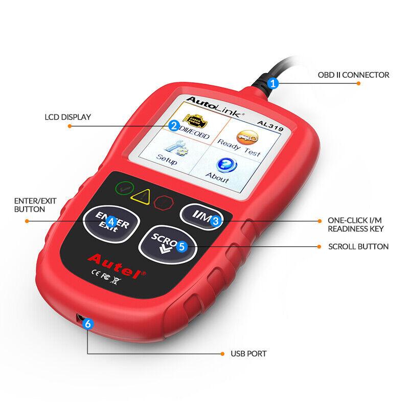 Autel Autolink AL319 OBD2 CAN OBDII Auto Car Code Reader Diagnostic Scanner Tool 11