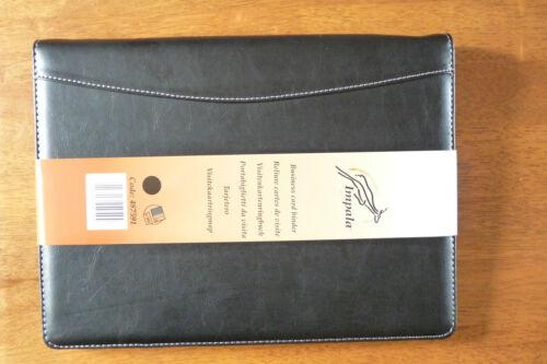 IMPALA BLACK LEATHERETTE BUSINESS CARD BINDER  NO 487591    BRAND NEW