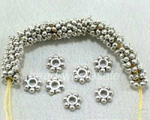 400pcs 1000Pcs Tibetan Silver//Golden//Bronze Daisy Spacer Beads Findings 4mm