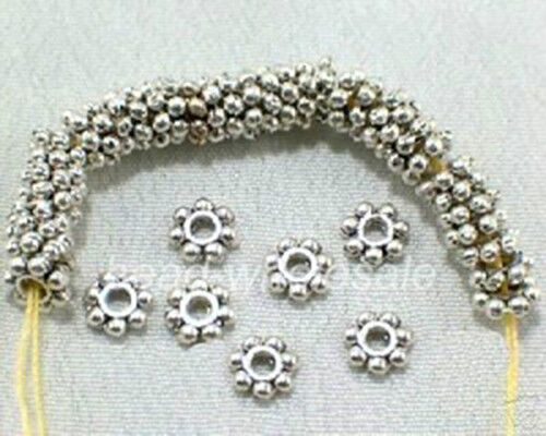 400pcs 1000Pcs Tibetan Silver/Golden/Bronze Daisy Spacer Beads Findings 4mm