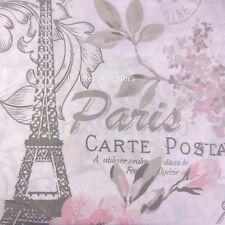 CYNTHIA ROWLEY French PARIS EIFFEL TOWER 3pc QUEEN DUVET COVER SET gray pink