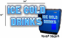 24 ice Cold Blue Horizontal Coca Cola Pepsi Cooler Pop Machine