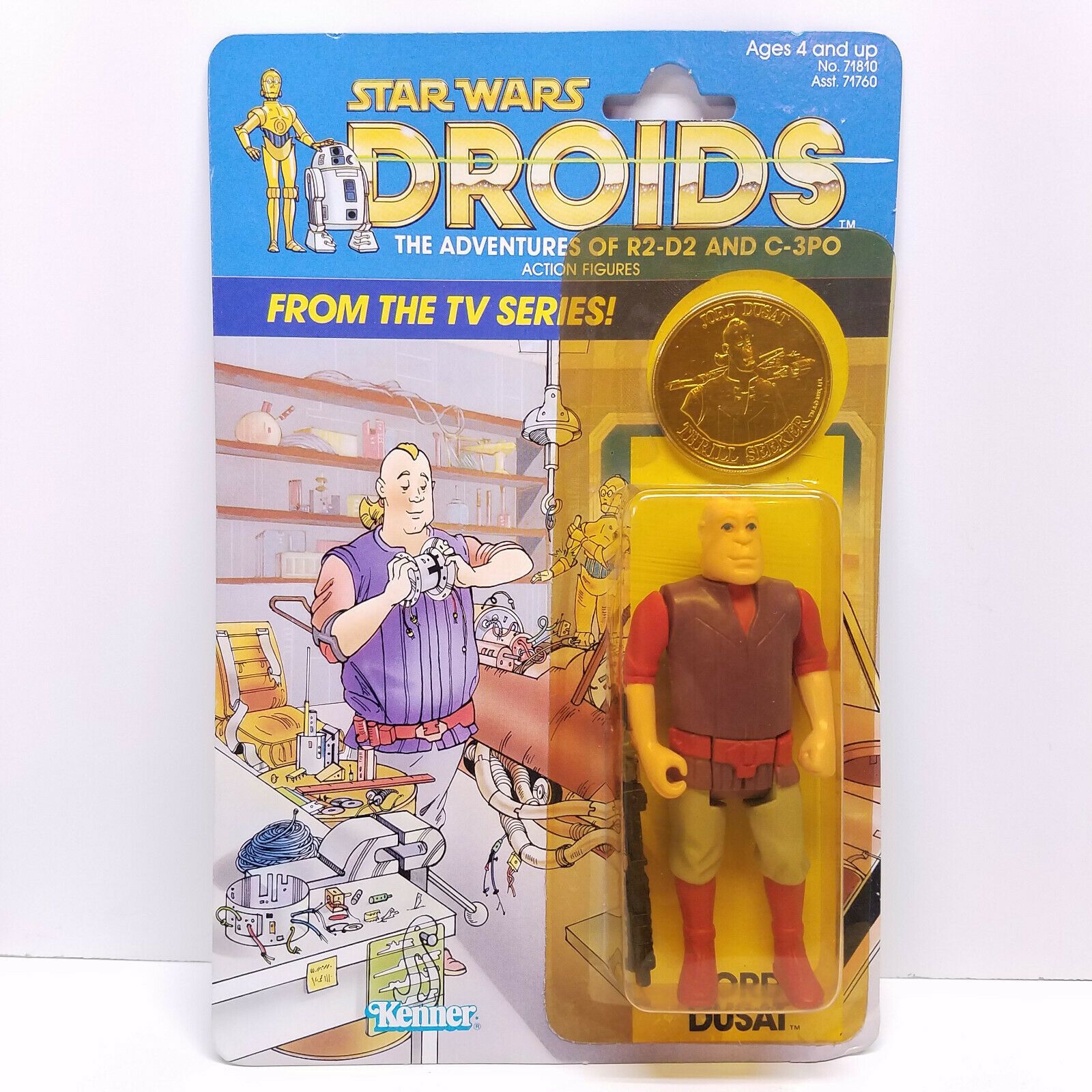DROIDS JORD DUSAT MOC Vintage Star Wars Figure Kenner 1985 Factory Sealed