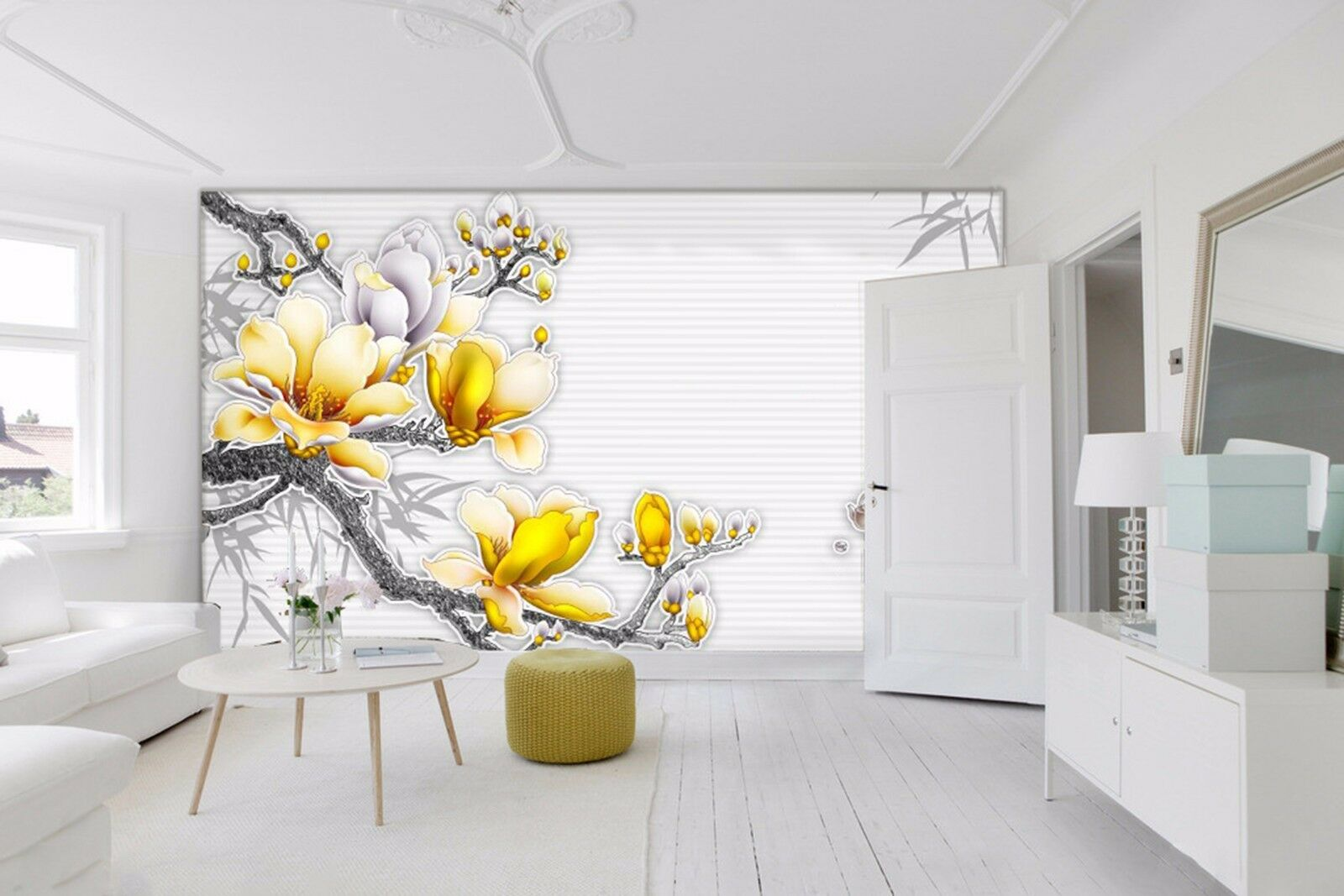 3D Peach branches 6788 Wall Paper Wall Print Decal Wall Indoor Murals Wall US