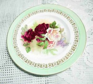 CLARICE-CLIFF-MADE-IN-ENGLAND-FLOWER-PLATE-EXCELLENT-1930s