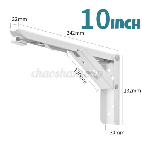 "2pcs Folding Shelf Brackets 14"" Heavy Duty Polished Stainless Steel for Table"