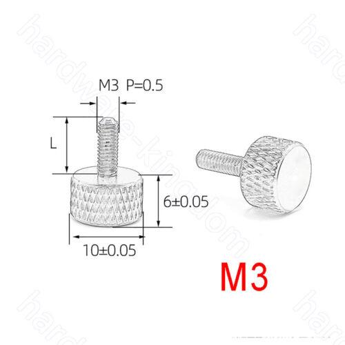 M3 M4 Knurled Thumb Screws PC Computer Case Aluminum Alloy Hand Grip Knob Bolts