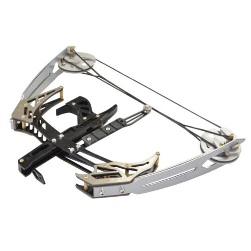 """25lbs Mini Compound Bow Set 14/"""" Triangle Bow Arrows Archery Hunting Fishing"""