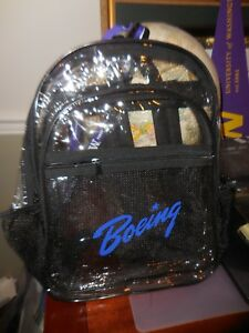 Boeing Limited Release Clear (See-through) Backpack - Security Sensitive Events