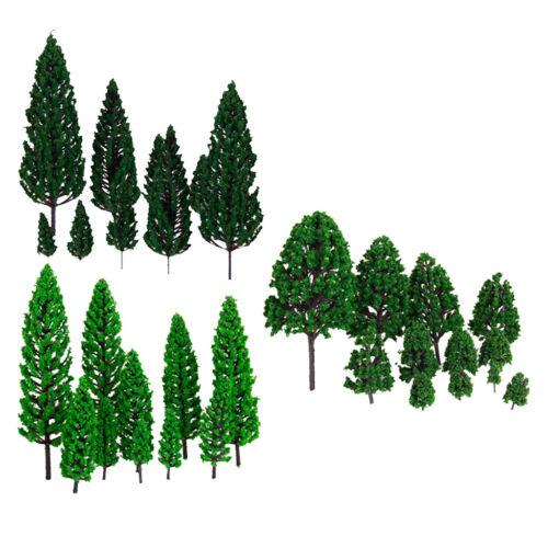 32 Stück Green Micro Landscape Trees Railroad