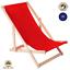 miniatura 12 - Silla tumbona tumbona de playa tumbona para tomar el sol tumbona de jardín tumbona de madera plegable tumbona relax