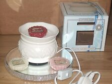 Ceramic Electric Wax Warmer/burner + 4 Yankee Candle Tarts melts wedding gift