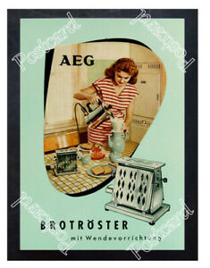 Historic-Toaster-AEG-1950s-Advertising-Postcard