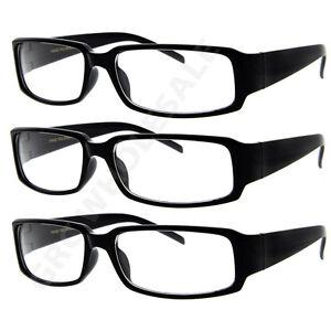 39495ac89079 3 Pairs NERD Smart Interview Black FAKE Glasses rectangle fashion ...