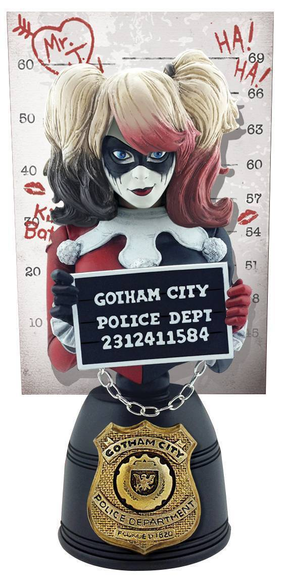 CRYPTOZOIC DC COMICS HARLEY QUINN MUGSHOT BUST SECOND EDITION NEW JOKER BATMAN