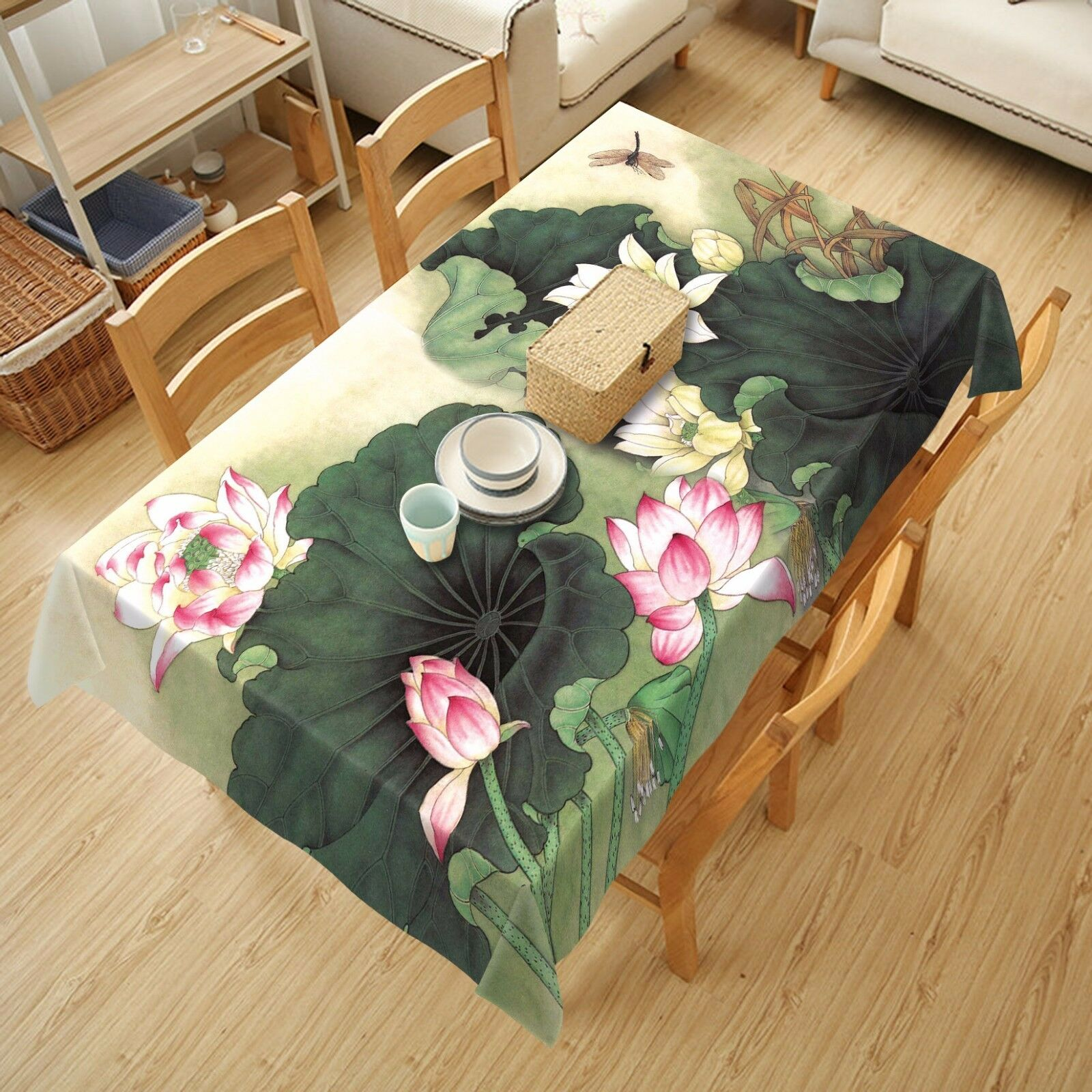 3D Lotus leaf9 Tablecloth Table Cover Cloth Birthday Party Event AJ WALLPAPER UK