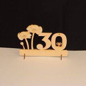 30 Geburtstag Mohnblume Alles Gute Geschenkidee Aus Holz
