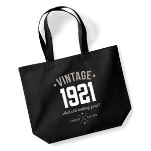 100th Birthday Gift Women's Ladies Shopping Bag Present Tote Idea Keepsake 100