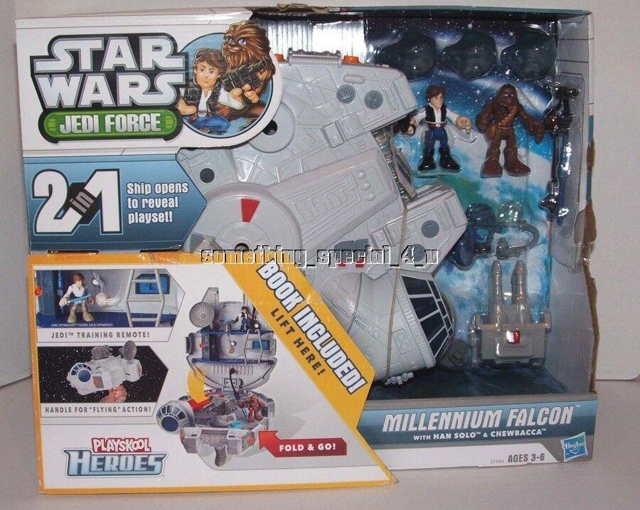 Playskool Star Wars Galactic Heroes Jedi Force Millennium Falcon Chewbacca Han