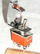 Dpdt 15a Toggle Switch Hi Power Chrome Plastic Safe Flip Safety Cover Guard Usa