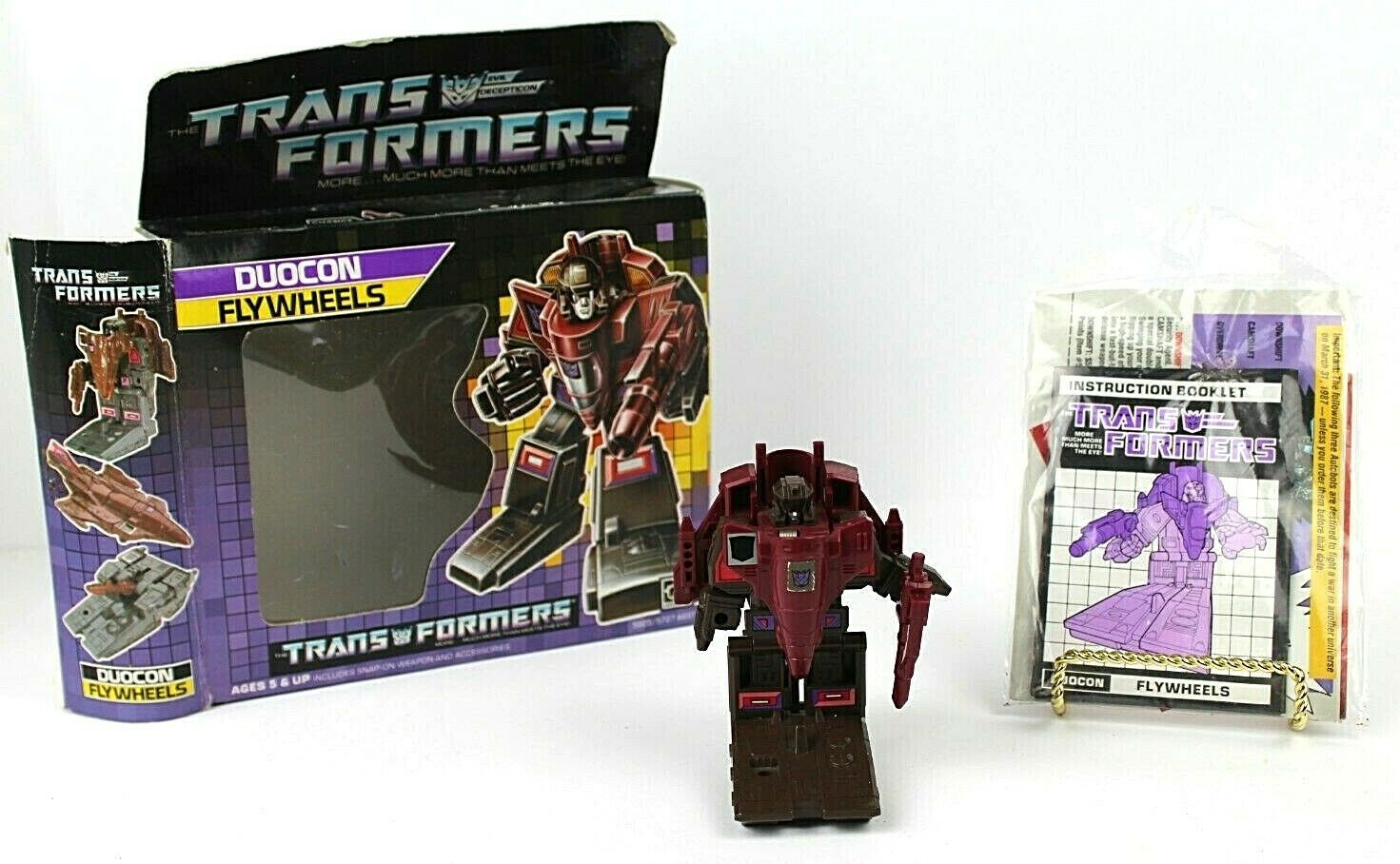 Transformers G1 Duocon Flywtalons Boxed Rare  Vintage complete Takara 1986  moins cher