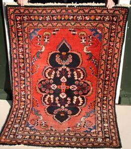Handgeknuepfter-Orientteppich-109x163-Teppich-Carpet-Rug-Bruecke-edel-Orient-123