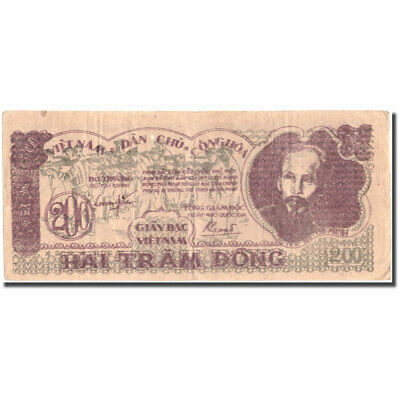 40-45 200 Dng #215476 To Be Distributed All Over The World 1950 Banknote Vietnam Ef Km:34a