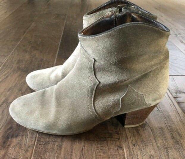 Isabel Marant SZ 37/US 7 Gris (Grey) Suede Dicker Ankle Boots Booties