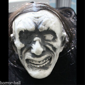 Monster-Ghoul-ZOMBIE-SEVERED-HUMAN-HEAD-Halloween-Prop-Building-Decoration-WHITE