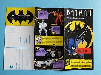 Alt Batman Flyer 1995 Bis Du Bereit ? Aktions Spielzeug Bat Dollar Sammel Aktion Fest In Der Struktur