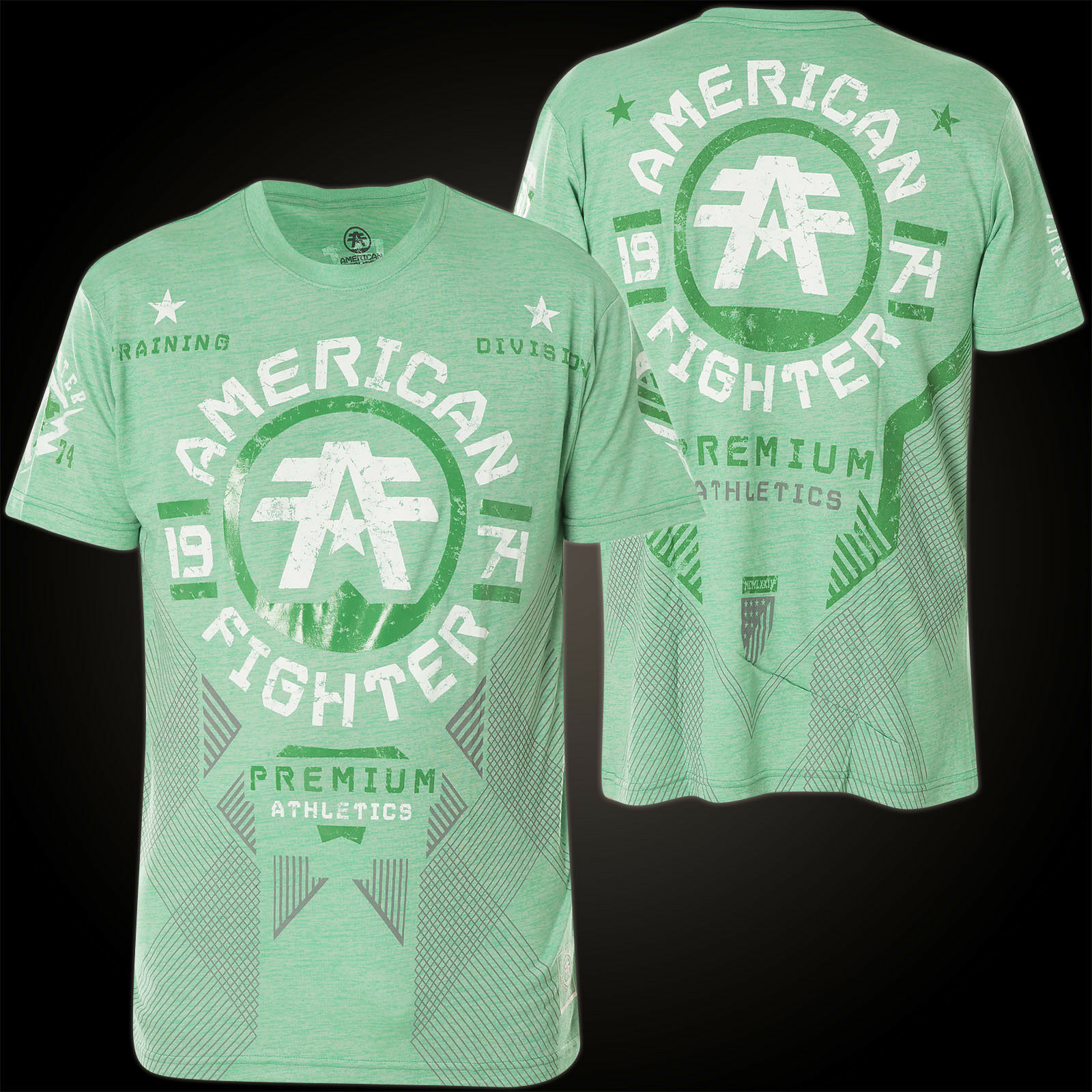 AMERICAN FIGHTER Affliction T-Shirt Mitchell Grün T-Shirts