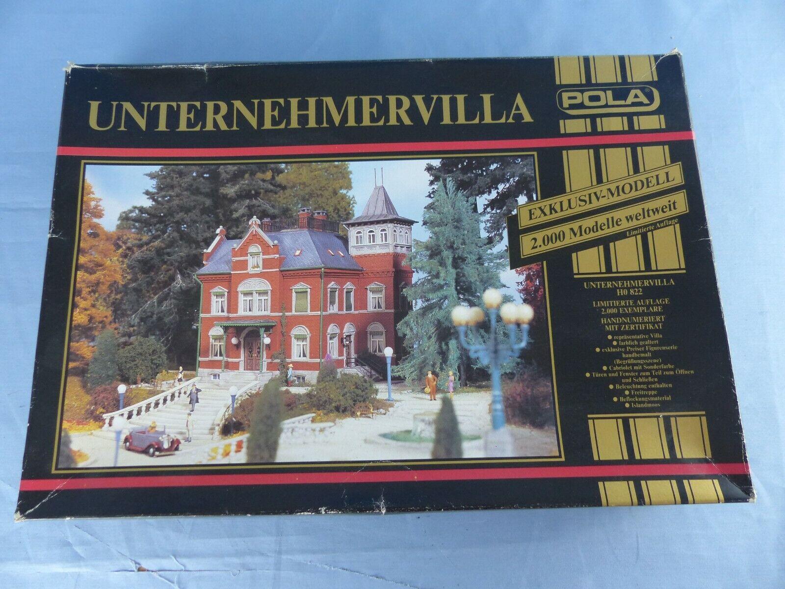Maquette POLA HO 822 luxury villa Unternehmervilla décor réseau trains