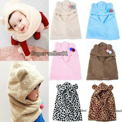 popular Warm Winter Hat Coif Hood Scarf For New Toddler Boy Girl Baby Kid new et
