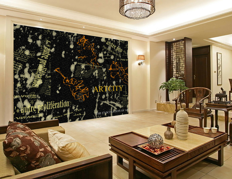 3D Engel Gekritzel 843 Tapete Wandgemälde Tapete Tapeten Bild Familie DE Summer